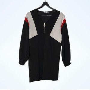 Zara Color Block Long Sleeved Tunic Dress Small